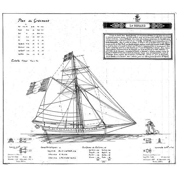 Plan complet du cotre corsaire
