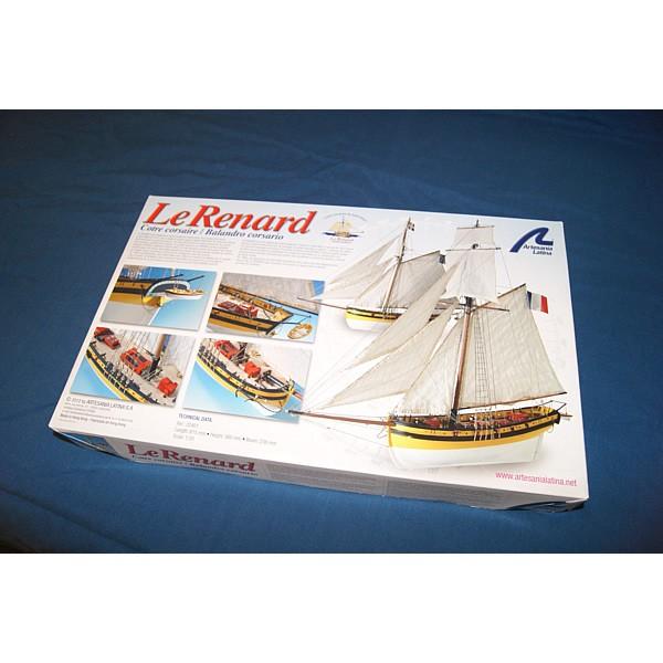 La boîte de la maquette du cotre corsaire Le Renard