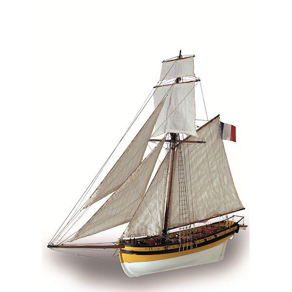 Maquette Artesania cotre corsaire Le Renard 01